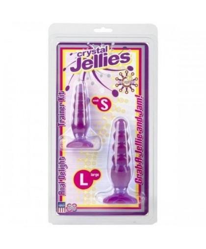 Набор анальных пробок Crystal Jellies