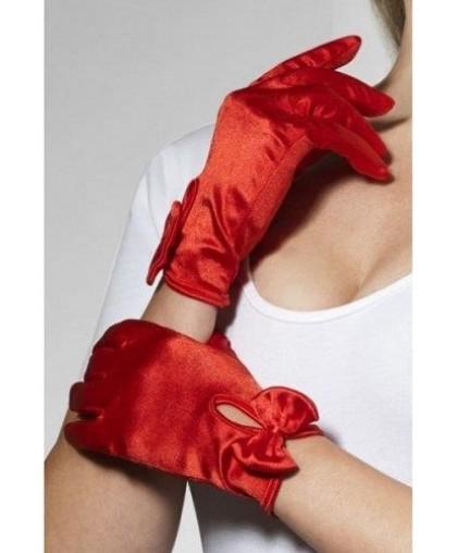 Перчатки красные Леди