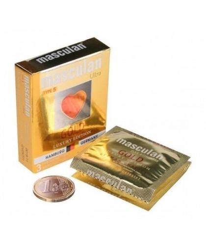 Презервативы Masculan тип 5 (ЗОЛОТОГО ЦВЕТА) с ароматом ванили