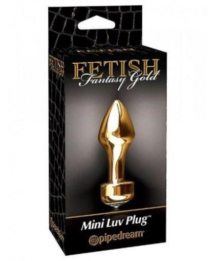 Анальная пробка золотая Fetish Fantasy Gold Mini Luv Plug