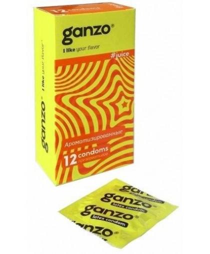 Презервативы ароматизированные Ganzo Juice №12