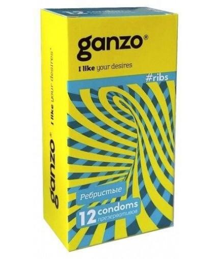 Презервативы рельефные Ganzo Ribs №12