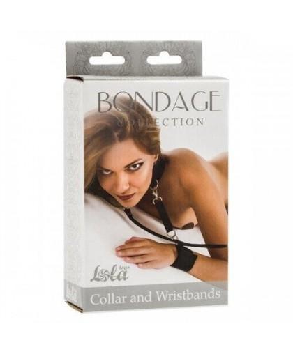 Ошейник с наручниками Bondage Collection Collar