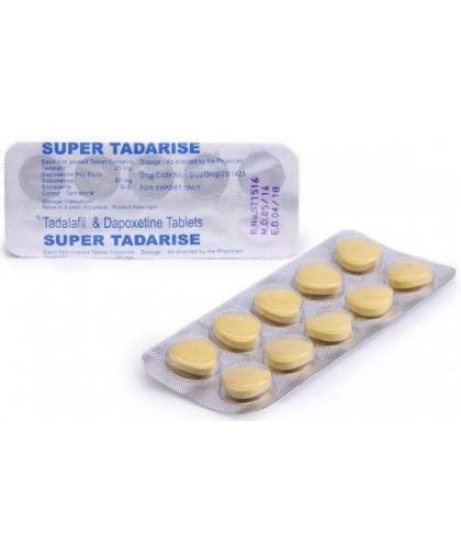 Super Tadarise Дженерик 10 таблеток (Тадалафил и Дапоксетин)