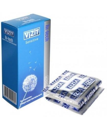 Презервативы VIZIT Hi-tech SENSITIVE сверхчувствительные 12 шт