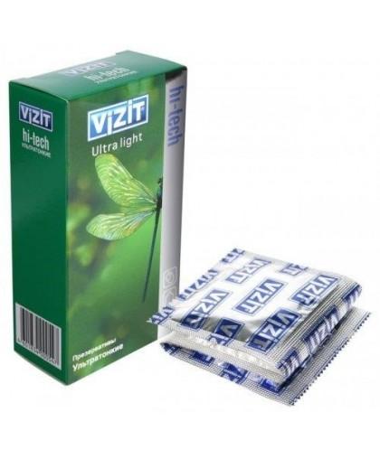 Презервативы VIZIT Hi-tech ULTRA LIGHT ультратонкие, 12 шт