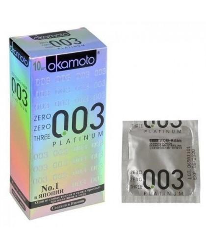 Супер тонкие презервативы Okamoto Platinum (10 шт.)