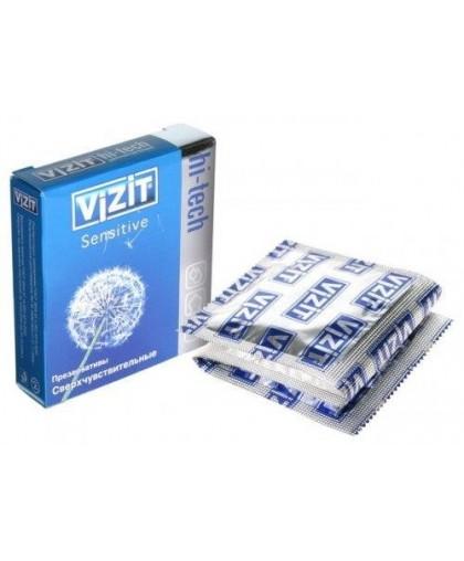 Презервативы VIZIT Hi-tech SENSITIVE сверхчувствительные, 3 шт