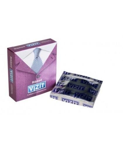 Презервативы ребристые Vizit Ribbed, 3 шт