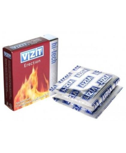 Презервативы VIZIT Hi-tech ERECTION с возбуждающей смазкой, 3 шт