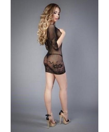Платье черное с длинным рукавом (Impulse)
