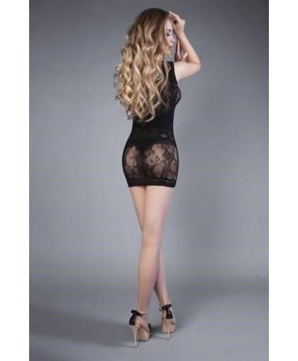 Платье черное на одно плечо (Impulse)