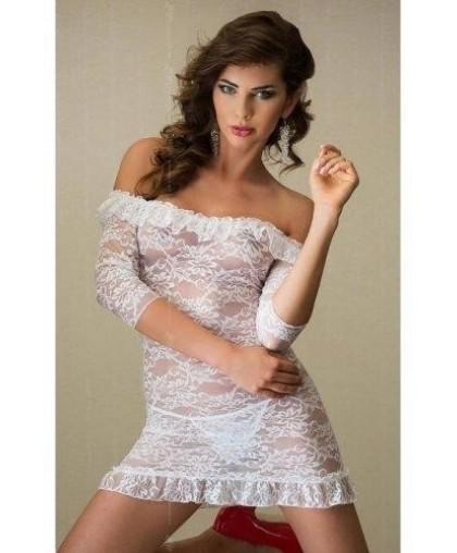 """Платье """"Agathe"""" с открытыми плечами и рукавами 3/4 со стрингами"""