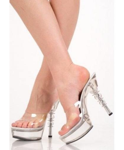 Туфли прозрачные модель erolanta-5222