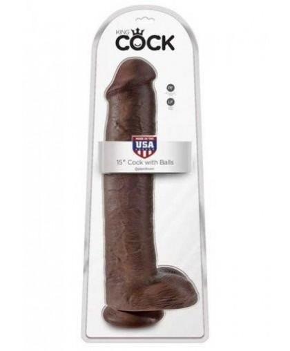 Фаллоимитатор-гигант мулат King Cock 15 Cock with Balls