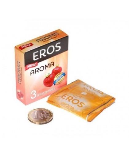 Презервативы Ароматизированные EROS AROMA (клубника, 3 шт.)