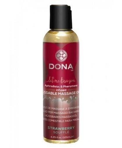 Ароматическое массажное масло Kissable Massage Oil Strawberry