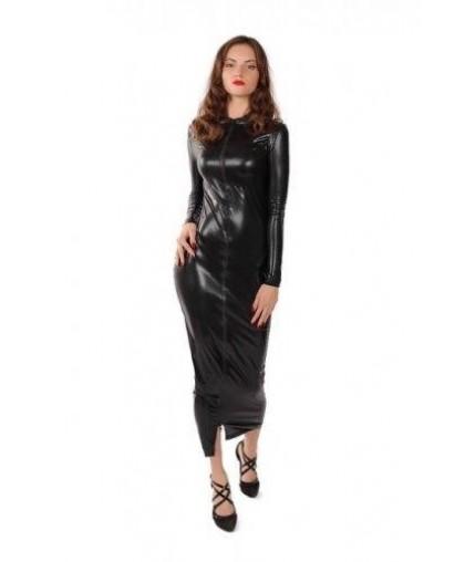 Длинное платье на молнии модель mensdr-1056