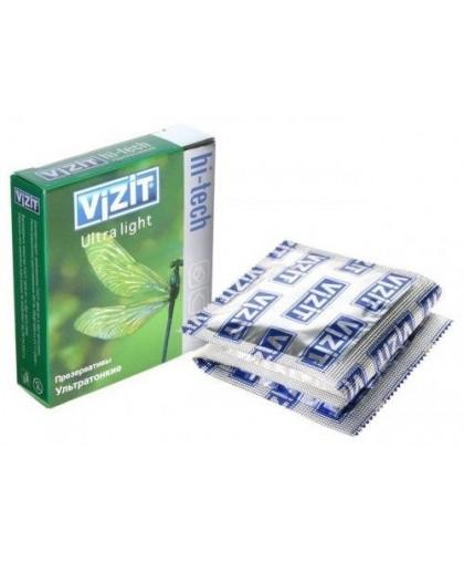 Презервативы VIZIT Hi-tech ULTRA LIGHT ультратонкие, (3 шт.)