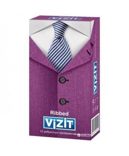 Презервативы ребристые Vizit Ribbed (12 шт )