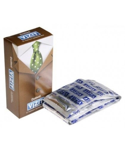 Презервативы VIZIT Dotted точечные (12 шт)