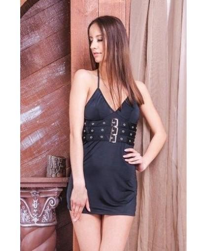 Мини-платье с пряжками