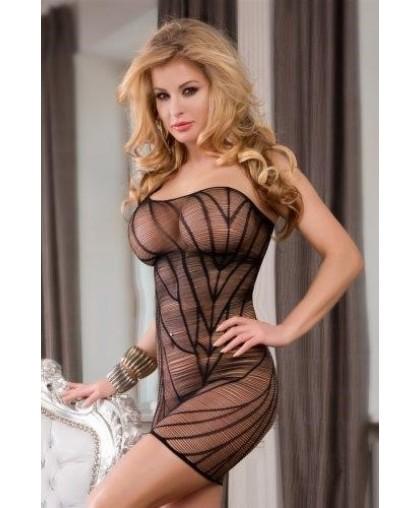 Платье-сетка Candy Girl с открытым плечом