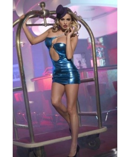 Клубное платье с ассиметричным вырезом