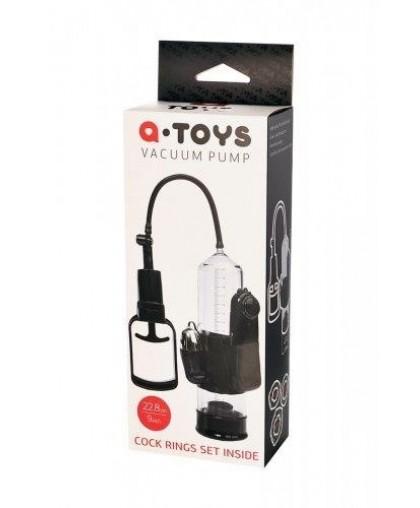 Вакуумная помпа с вибрацией A-Toys черная