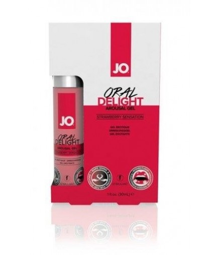Гель для оральных ласк со вкусом клубники Oral Delight Strawberry Sensation