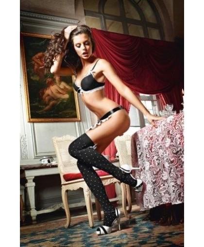Чулки Playful French Maid высокие черные