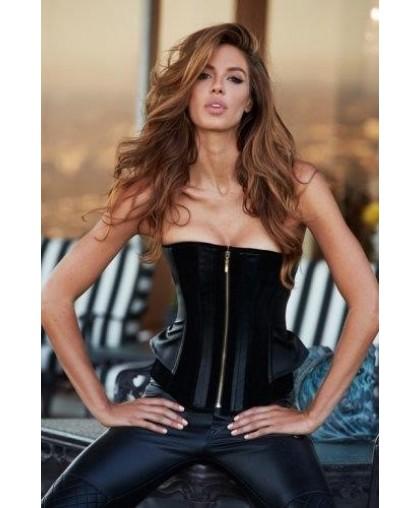 Корсет черный Suede and Leather Corset