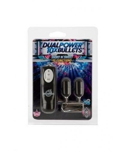 Два вибро-яйца 10X Dual Power Bullets - Short n' Sweet