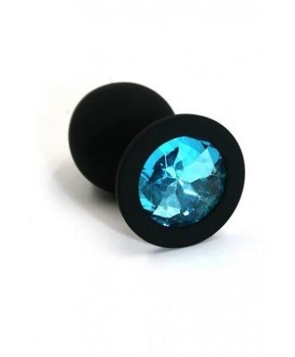 Анальная пробка из силикона light blue medium