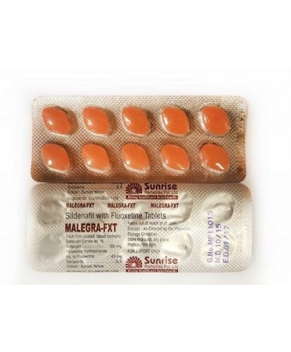 Malegra-FXT Дженерик 30 таблеток (Силденафил и Флуоксетин)