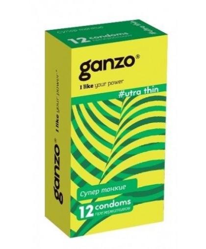 Ультратонкие презервативы Ganzo Ultra Thin №12