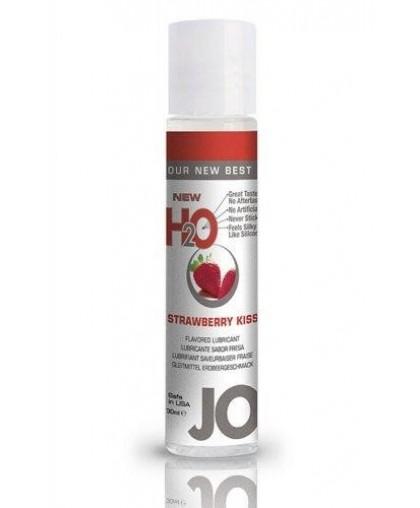 Ароматизированный любрикант JO Flavored Strawberry Kiss