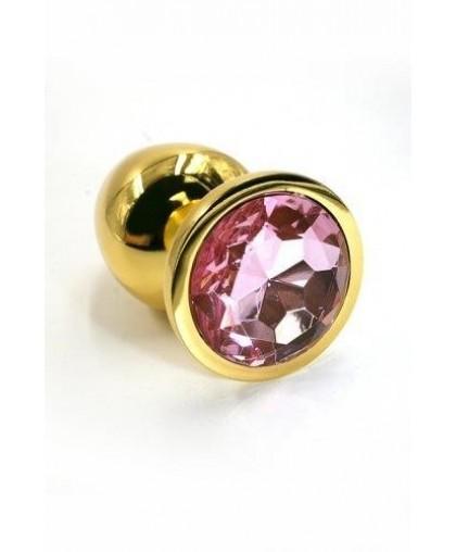 Металлическая анальная пробка light pink gold