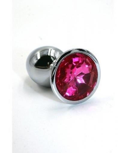 Анальная пробка из алюминия Dark Pink