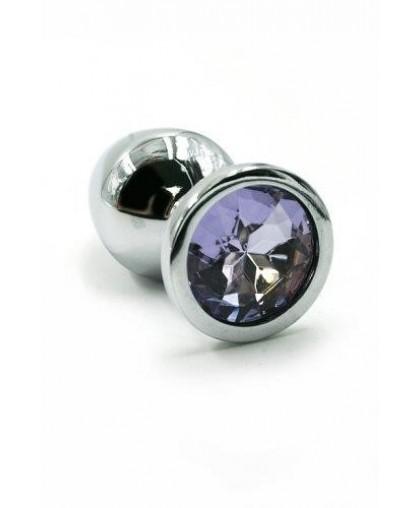 Металлическая анальная пробка Small light purple