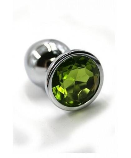 Металлическая анальная пробка Small light green