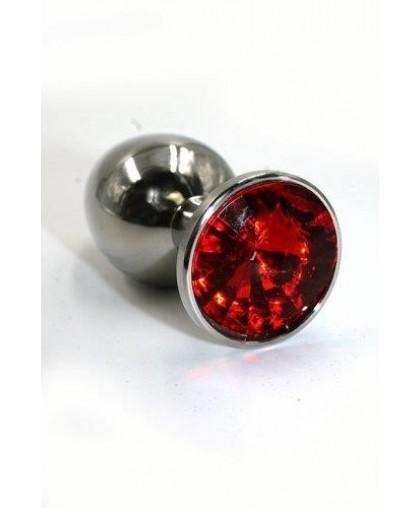 Металлическая анальная пробка Large red