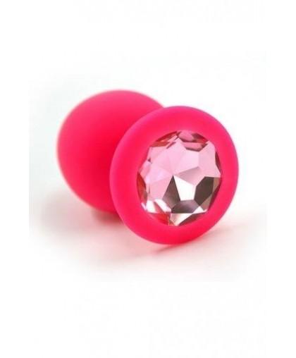 Анальная пробка из силикона pink Large