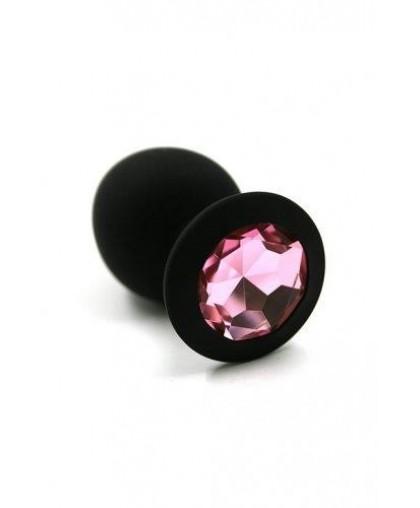 Анальная пробка из силикона Light pink medium