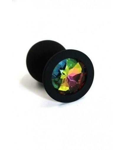 Анальная пробка из силикона rainbow medium