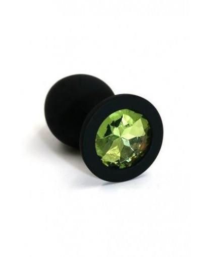 Анальная пробка из силикона light green medium