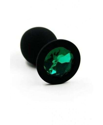 Анальная пробка из силикона dark green medium