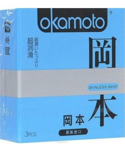 Презервативы Okamoto Skinless Skin Super c обильной смазкой № 3