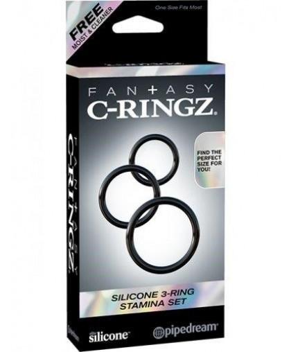 Набор из 3-х эрекционных колец Silicone 3-Ring Stamina Set