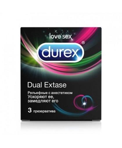 DUREX Dual Extase Презервативы 3 шт.